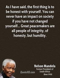 Quotes On Being Honest With Yourself Best Of Nelson Mandela Quotes QuoteHD