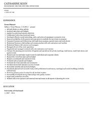 Event Planner Resume Sample Velvet Jobs