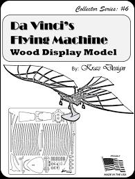 leonardo da vinci flying machine model kit