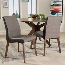 set of 2 mid century modern brown dining room chairs kimberly rc willey furniture