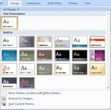 Design For Powerpoint 2007 Change The Default Template Or Theme In Powerpoint 2007 For Windows