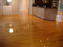 contemporary hardwood laminate flooring for space front kitchen and plain wall paint color