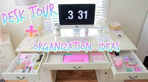 Desk Organization Desk Tour How To Organize Your Desk Youtube