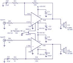 x watt amplifier using lm electronic circuits 2x60 watt amplifier using lm4780