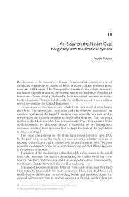 political essay an essay on the muslim gap religiosity and the  an essay on the muslim gap religiosity and the political system inside