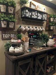 Make sure to have regular and decaf coffee and label them. Farmhouse Style Coffee Serving Station Ideas For The Kitchen Home Coffee Bar Ideas Decorating Ideas And Accessories For The Home Creative Ideas For Every Room