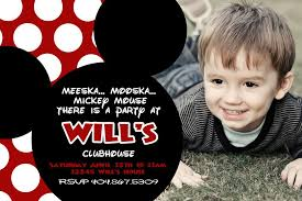 Mickey Mouse Clubhouse 2nd Birthday Invitations Wills Mickey Mouse Birthday Party Bower Power