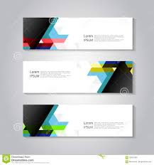 Flyer Header Header And Banner Template With Color Triangle Background