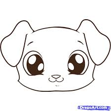Small Picture How to Draw a Puppy Face Step by Step Pets Animals FREE Online