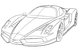 Small Picture Ferrari Coloring Pages