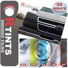 Pro Precut Smoke Headlight Tint Film Kit Chevy Avalanche Silverado ...