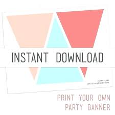 Diy Birthday Banner Template Party Banner Template Awesome