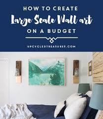 how to create inexpensive wall art