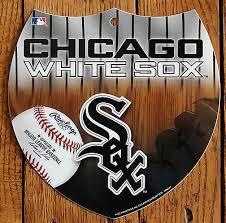 baseball sign chicago white sox wall decor licensed mlb interstate