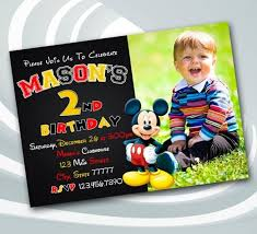 Mickey Mouse Clubhouse 2nd Birthday Invitations 31 Mickey Mouse Invitation Templates Free Sample Example