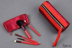 whole brush set uk middot outlet mac makeup brushes red 5 pcs