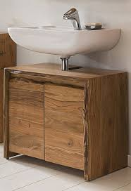 Kawola Badezimmer Waschbecken Unterschrank Live Edge Akazie Massiv