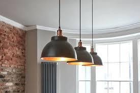 copper pendant light vintage metal dome in dark pewter by kit copper pendant light