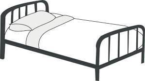 bed clipart black and white. Plain Clipart Bed Clipart Black And White C