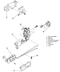 Exploded view of the rear power door lock assembly legacy shown others similar