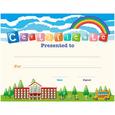 Kids Certificate Border Children Certificate Design Vector Free Download