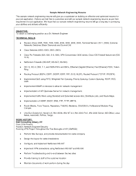 Network Engineer Fresher Resume Sample Free Resume Example And
