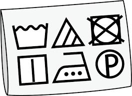 イラストポップ 学校のイラスト 家庭科no23洗濯表示が印刷された洗濯