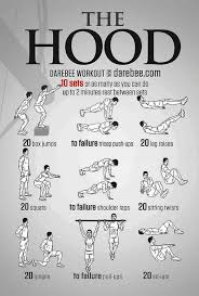 the hood workout bodyweight workout for beginners pop workouts creative ideas workout pop workouts and routine