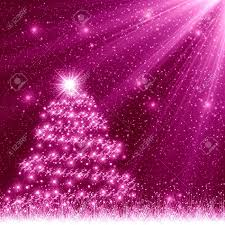 Pink Christmas Tree Background Stock ...