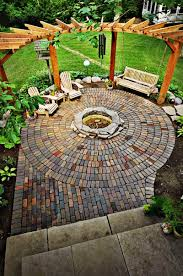 Small Picture Exterior Stone fire pit ideas round circle block wooden round