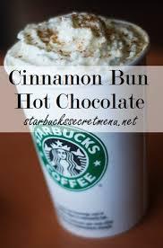 starbucks hot drinks names. Unique Drinks Starbucks Secret Menu Cinnamon Bun Hot Chocolate In Drinks Names A