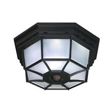 heath zenith 360 degree 4 light black motion activated octagonal ceiling light
