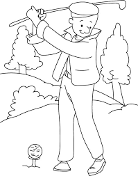 Small Picture Playing golf coloring page Download Free Playing golf coloring