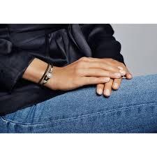pandoramoments black double leather bracelet 597194cbk