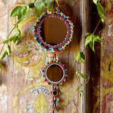 handmade mirror wall hanging