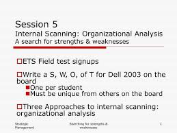 5 Strengths And Weaknesses Ppt Session 5 Internal Scanning Organizational Analysis A