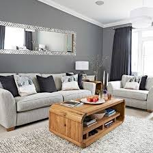 Chic grey living room with clean lines | Grey living rooms, Living rooms  and Grey