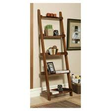 ... Outstanding Leaning Ladder Shelf Ikea Narrow Bookcase Brown Leaning  Ladder Shelf With Books Gucci