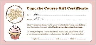 gift certificates format cupcake gift certificate template aboutplanning org
