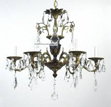 antique bronze chandelier crystal vintage tole black gold gilded french empire