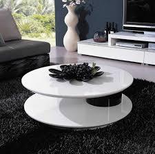 Cool Black White Living Room Interior Design With Round White