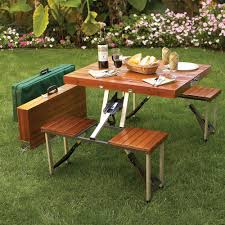 wood folding camping table