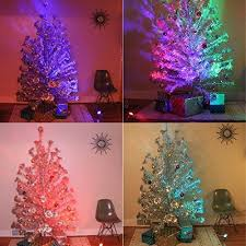 Interior Retro Silver Christmas Tree Treetronics Color Wheel 2 0