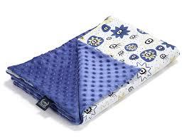 La Millou Light Baby Blanket Cotton Minky 32 X 40in Watch Me Bright Ink Ink
