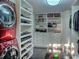 laundry in master closet honestly the best idea ever washer dryer inside your walk in closet