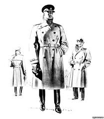 world war one aquascutum advert for their storm coat from the 1940s
