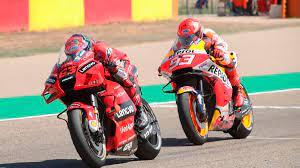 MotoGP: Bagnaia siegt nach packendem Duell mit Márquez in Aragon