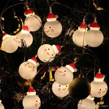 Indoor Snowman Lights Christmas Snowman Light Battery Garland Fairy String Lamp For Party Wedding Christmas Indoor Outdoor Decoration Light Wholesale String Lights String