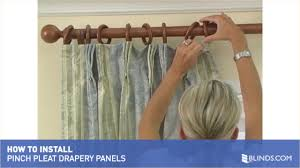 how to install pinch pleat dry panels raquo instdrppinchpleat blinds com blinds com gallery