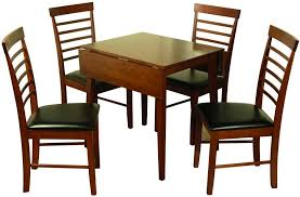 hanover dark square drop leaf dining set with 4 chairs 61cm 97cm